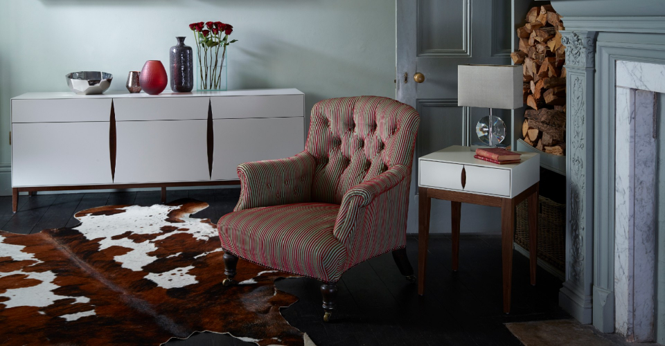 Lux Three Door & Drawer Sideboard And Single Drawer Side Table © GillmoreSPACE Ltd