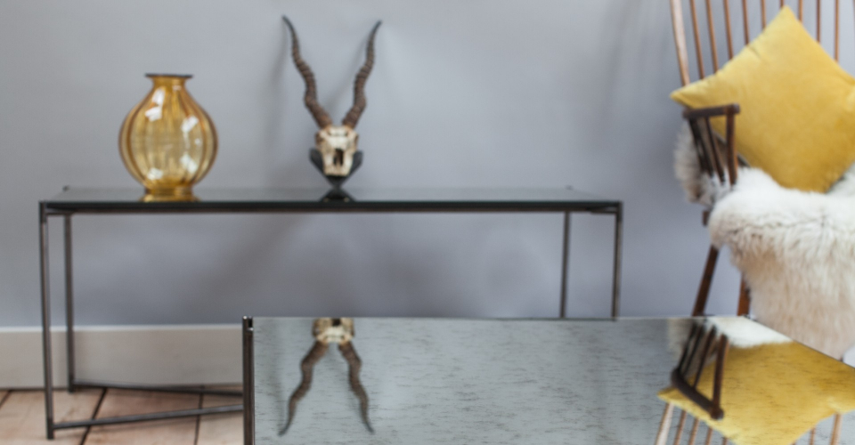 Iris Antique Glass Console Table by Gillmore © GillmoreSPACE Ltd