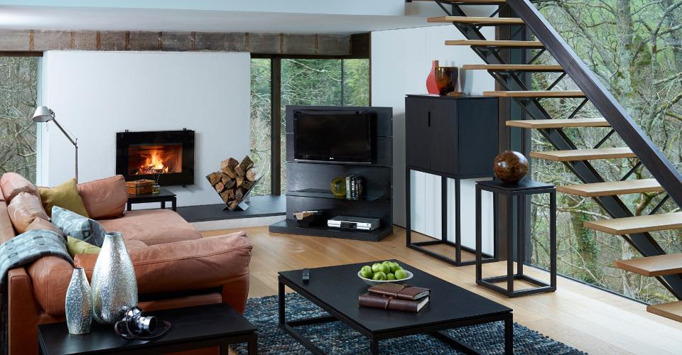 Cordoba Tall Sideboard, Coffee Table & Plant Stand © GillmoreSPACE Ltd