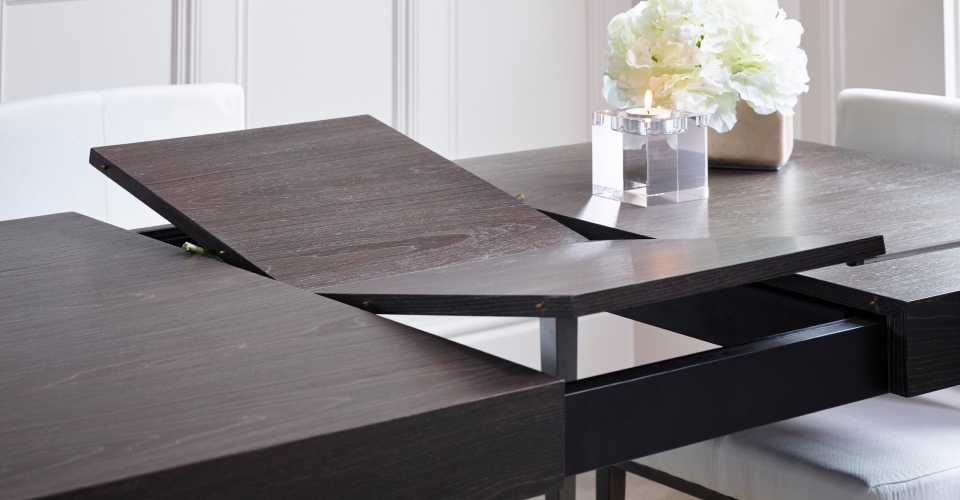 Fitzroy Extending Dining Table Butterfly Opening Detail by Gillmore © GillmoreSPACE Ltd