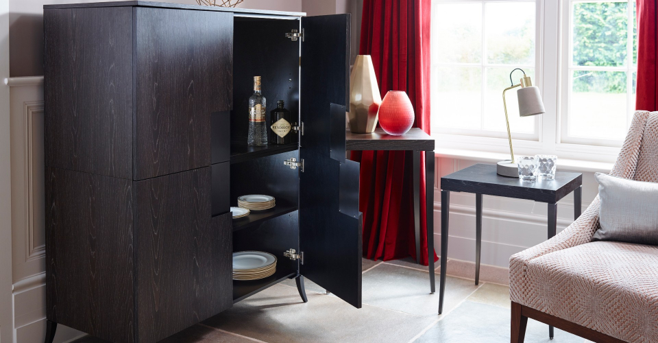 Fitzroy Square Drinks Cabinet Open by Gillmore © GillmoreSPACE Ltd