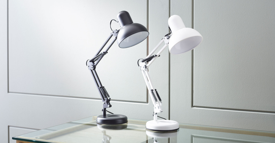 Accessories Adjustable Stanley Lamps In Black & White by Gillmore @ GillmoreSPACE Ltd