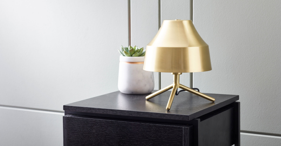 Accessories Hector Brass Bedside Lamp & Small Stella White Marble Vase by Gillmore @ GillmoreSPACE Ltd