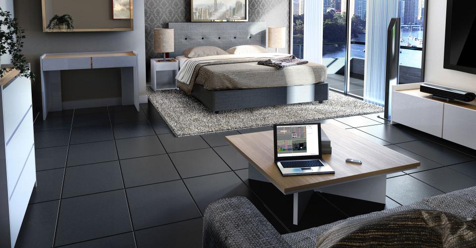 Essentials Oak & White Open Plan Bedroom Set by Gillmore © GillmoreSPACE Ltd