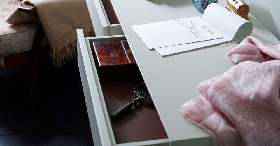 Lux Dressing Table Open Drawer Detail © GillmoreSPACE Ltd